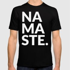 namaste Mens Fitted Tee MEDIUM Black