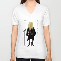 stevie nicks V-neck T-shirts featuring Stevie Nicks by Sarah Duet