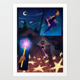 Shooting Star Page 1 Art Print