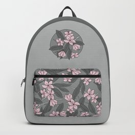 Sakura Branch - Ballet Slipper + Neutral Grey Backpack