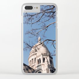 Sacre Coeur under the Tree Branches Clear iPhone Case