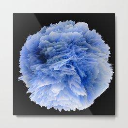 Fantasy Sea Anemone in Blue Metal Print