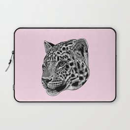 Amur leopard cub - pink - big cat Laptop Sleeve