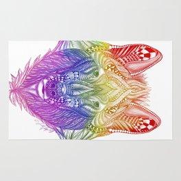 Zentangle Inspire Art- Rainbow Wolf Rug