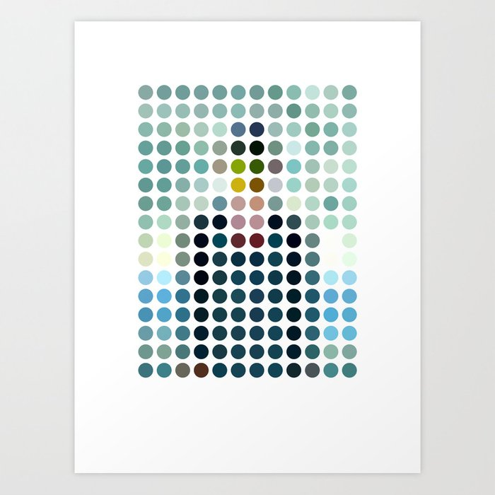 Rene Magritte Remixed Art Print