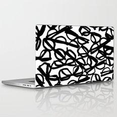 Black Eyeglasses Laptop & iPad Skin