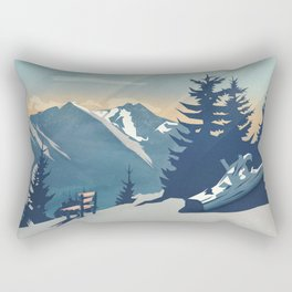 Mountain Sunrise (Pause II) Rectangular Pillow