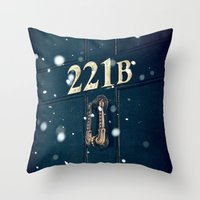 221b Throw Pillows featuring Victorian 221B by MarinaArt