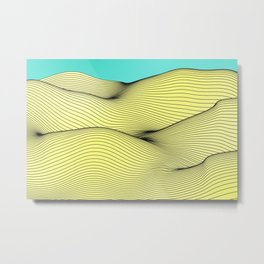 Yellow Landscape Metal Print