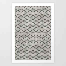 Random Concrete Cubes Art Print