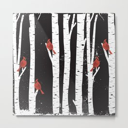 Northern Cardinal Birds Metal Print