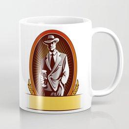cartoon Man drinking beer Coffee Mug