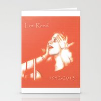 lou reed Stationery Cards featuring Lou Reed May He Rest In Peace by JennFolds5 * Jennifer Delamar-Goss