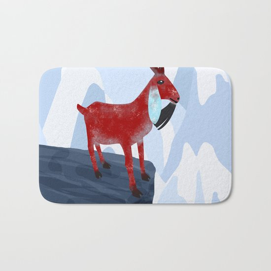 Mountain Goat Design Bath Mat