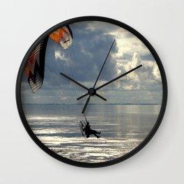 Powered Paraglider Wall Clock