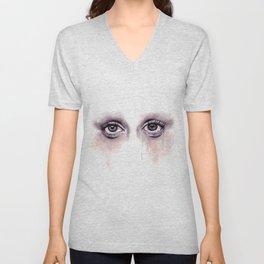 Bloodshot Eyes Doodle  Unisex V-Neck