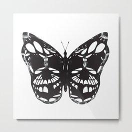 Butterfly skulls Metal Print