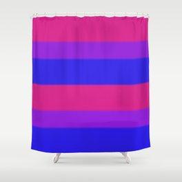 Bisexual Pride Flag v2 Shower Curtain