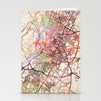 austin Stationery Cards featuring Austin by MapMapMaps.Watercolors