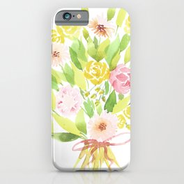 Roses and Gerberas iPhone Case