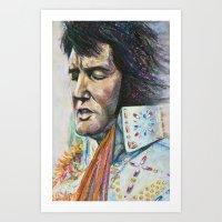 The King - Elvis Presley Art Print