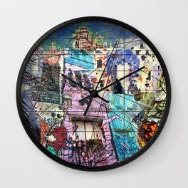 European Street Art Wall Clock