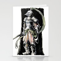 knight Stationery Cards featuring Knight by Vagelio