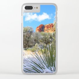 Sedona Winter  by Reay of Light Clear iPhone Case