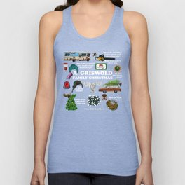 Christmas Vacation Collage Unisex Tank Top