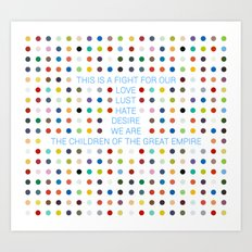 Thirty Seconds To Mars ; Conquistador Art Print
