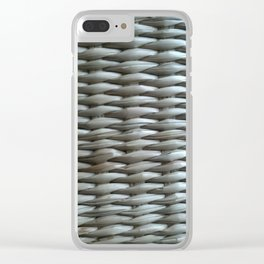 Wooden weave Clear iPhone Case