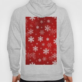 Light Red Snowflakes Hoody