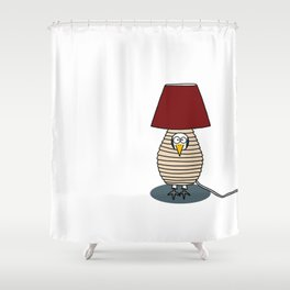 Eglantine la poule (the hen) disguised as a lampe. Shower Curtain