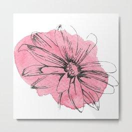 flor rosa Metal Print