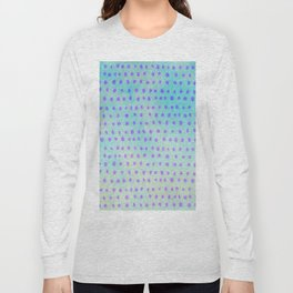 Purple Polka Dots Long Sleeve T-shirt
