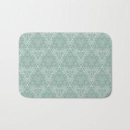 Decorative Mint Green Burlap Texture Pattern Bath Mat