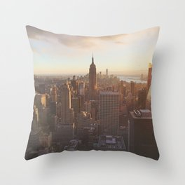 New York from above Throw Pillow