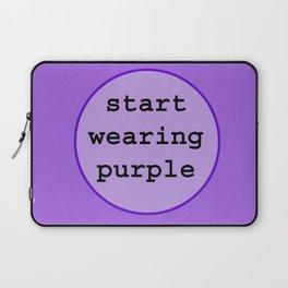 Start Wearing Purple Laptop Sleeve