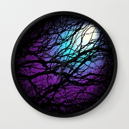 lights in the forest Wall Clock