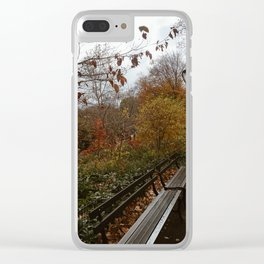 NYC Fall Benches Clear iPhone Case
