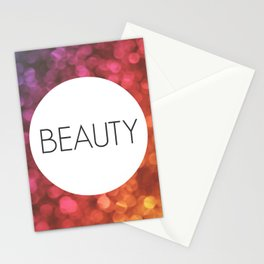 One Word - Beauty Stationery Cards