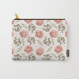 Vintage Roses Pattern Carry-All Pouch