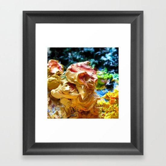 Naples Yellow Paint Glob Framed Art Print