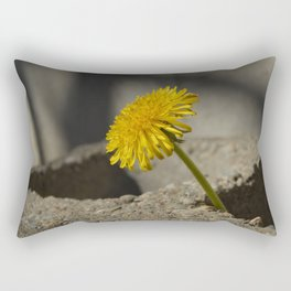 Dandelion That Grew From Concrete Rectangular Pillow