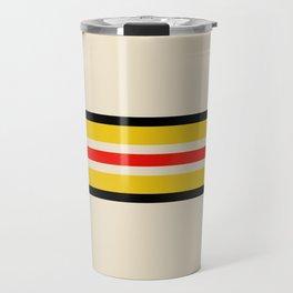 Classic Retro Stripes Amemasu Travel Mug