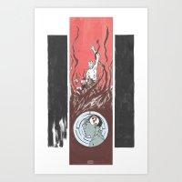 The Question of Abe Sapien Art Print