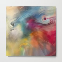 Colored watercolor abstraction painting Metal Print