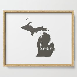 Michigan is Home Serving Tray