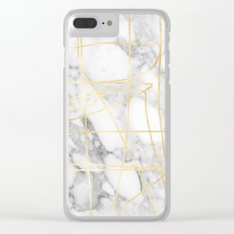 Marble Gold Session III-I Clear iPhone Case