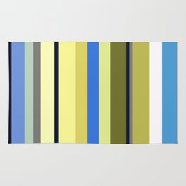 Blue and Moss Stripes Rug